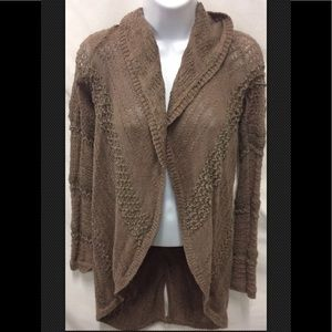 KNITTED KNOTTED Anthropologie Chunky Boho Tunic